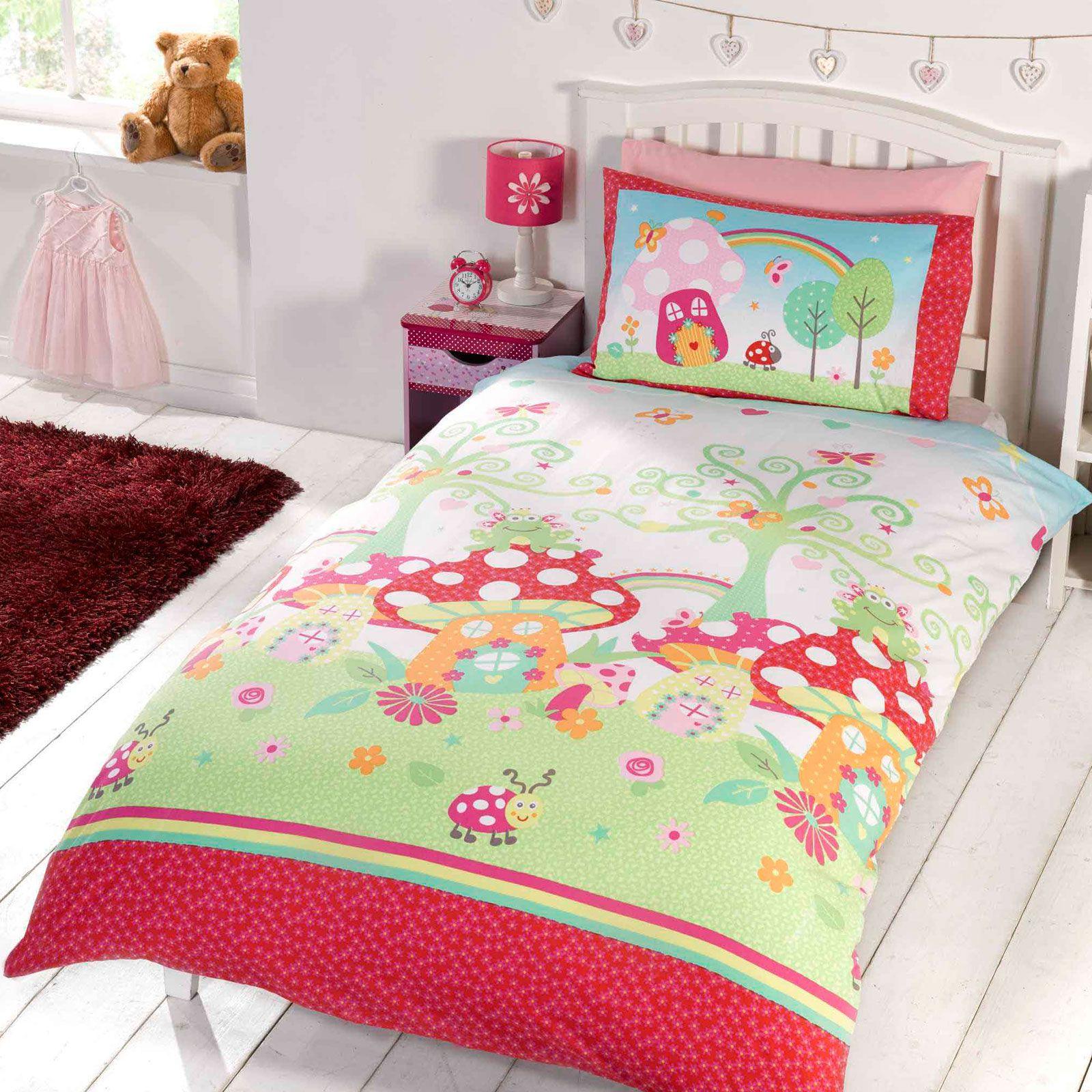 Ragazze copripiumino per letto singolo set unicorn farfalle principesse gufi ebay - Copripiumino letto singolo ...