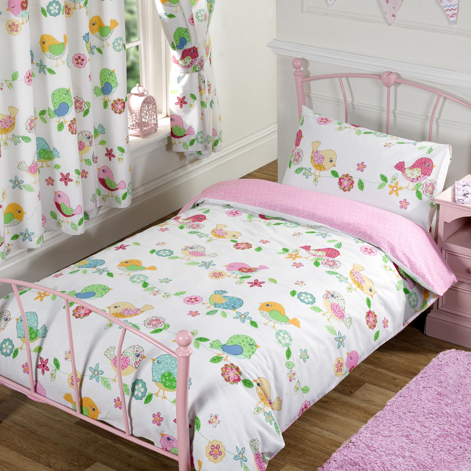 Girls Single Duvet Cover Sets Unicorns Butterflies