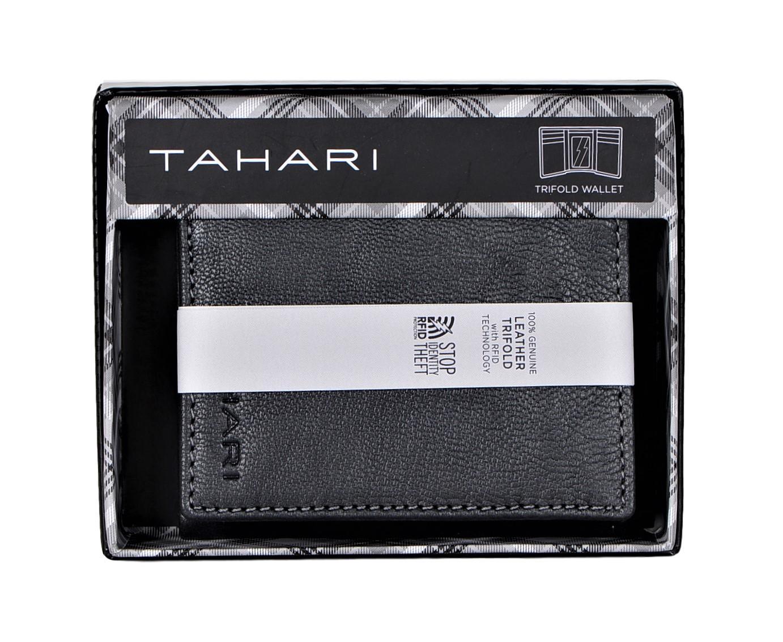Tahari-Herren-Rfid-Sicherheit-Sperrung-Leder-Antik-Dreifach-Faltbar-Etui Indexbild 8