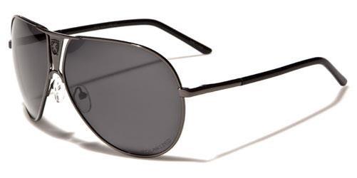 Designer Sonnenbrille Schwarz Polarisiert Khan Piloten Herren Damen groß Retro 7osX2GCtt