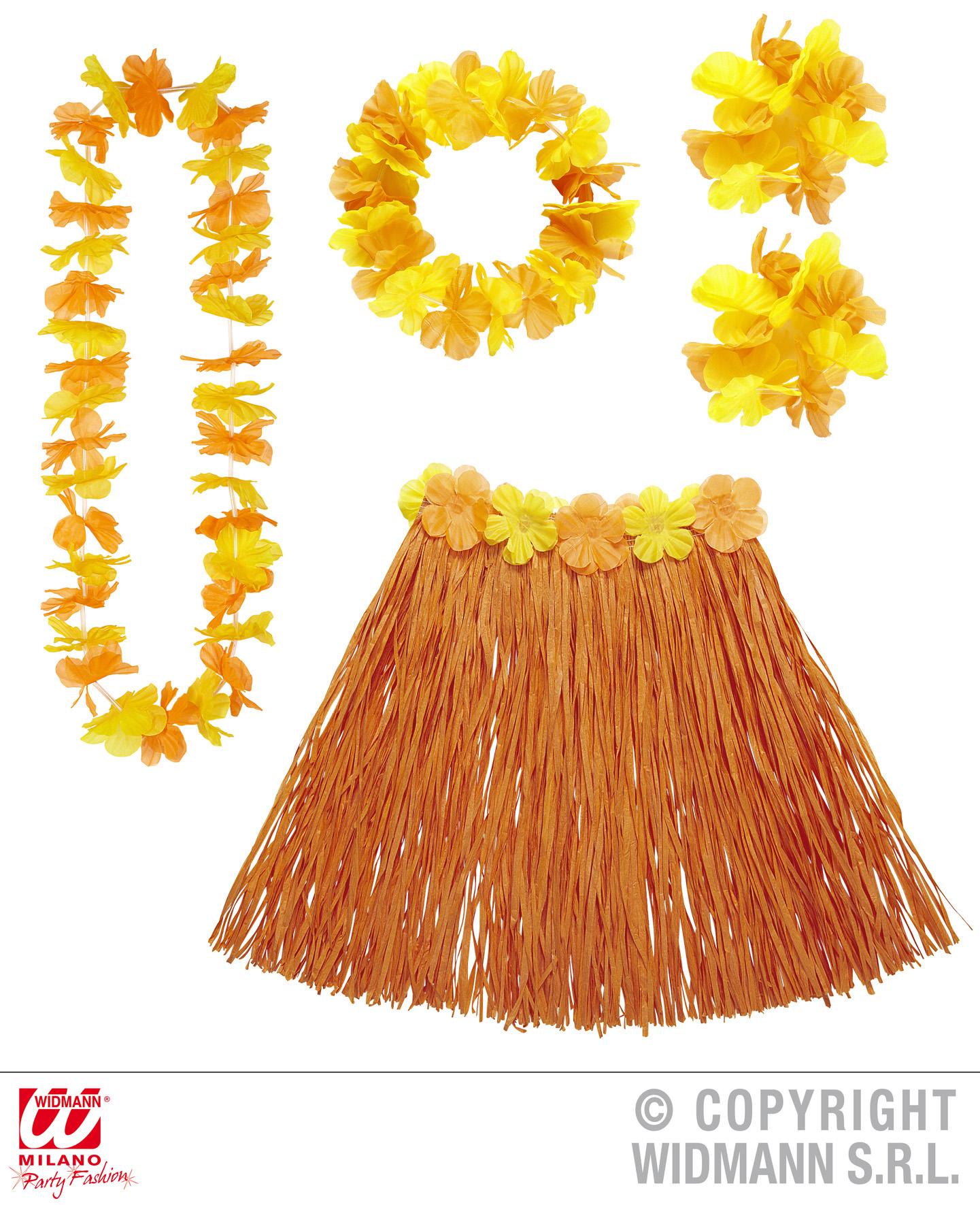 5-pz-Hawaii-set-Gonna-Catena-bracciali-corona-fiore-donna