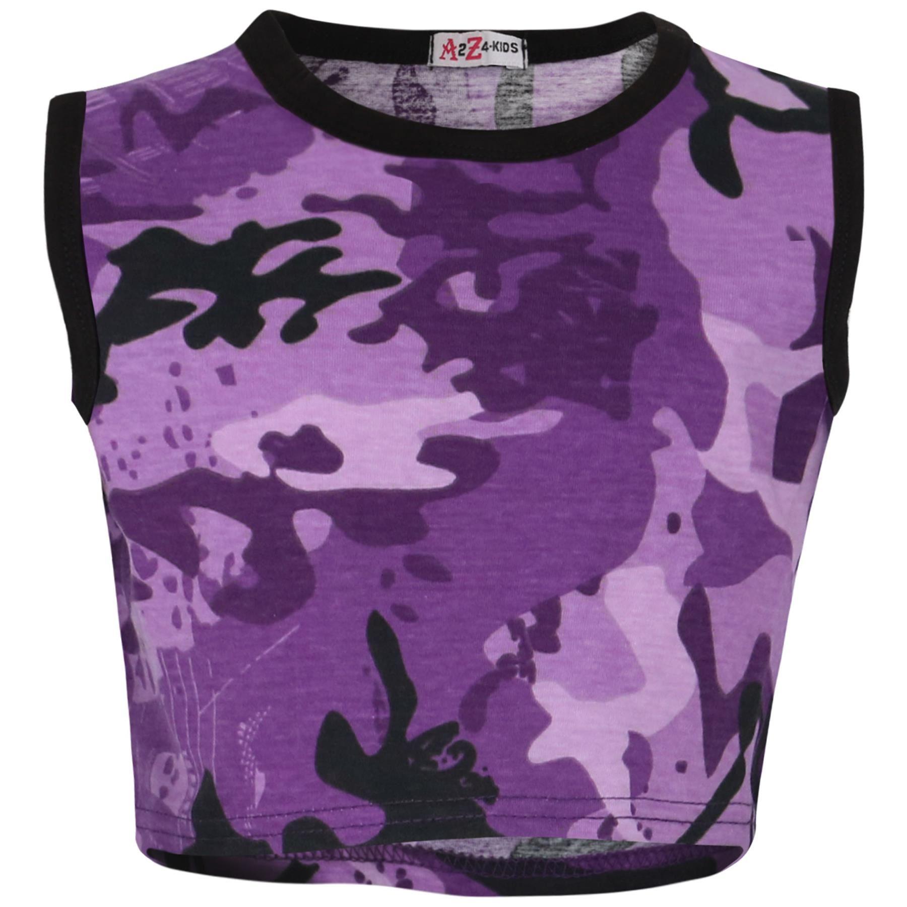 Enfants Filles Garçons T Shirt 100/% Coton Contraste avec empiècements Summer Top Short Set 5-13