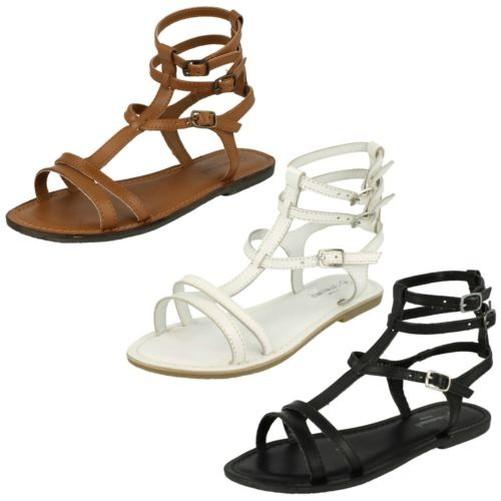 Ladies Casual Ankle Buckle Flat Savannah Gladiator Sandals Savannah Flat 1aeacf