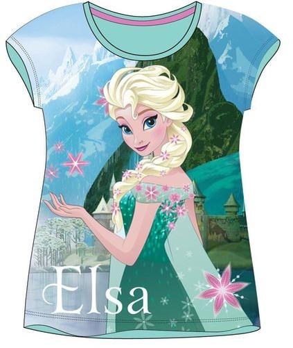 DISNEY-LA-REINE-DES-NEIGES-gele-Elsa-manches-courtes-tee-shirt