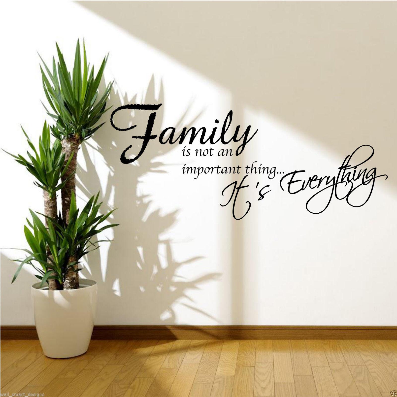 Famiglia is tutto frase adesivo artistico parete camera ebay for Famiglia parete