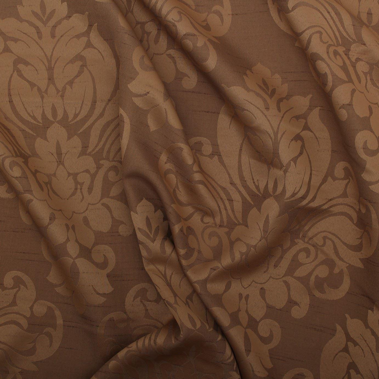 blumen damast kunstseide jacquard vorhang polster stoff material 12 farben ebay. Black Bedroom Furniture Sets. Home Design Ideas