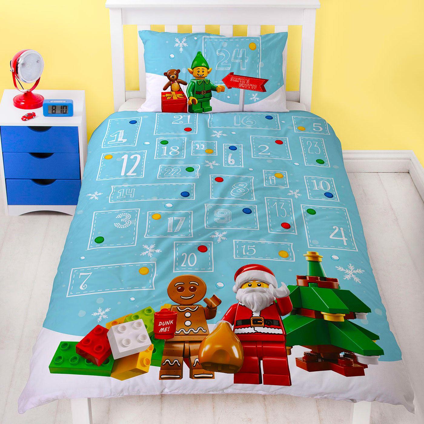 Indexbild 39 - Kinder Weihnachten Bettbezug Sets - Junior Einzel Doppel King - Elf Emoji Grinch