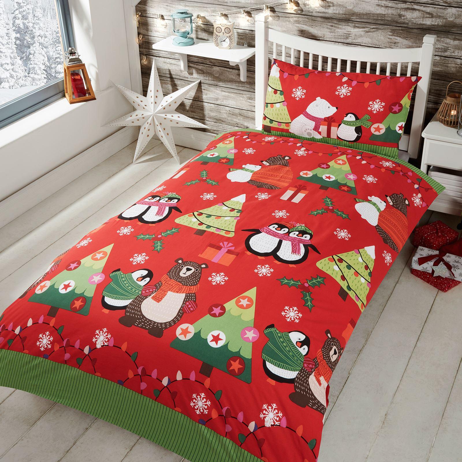 Indexbild 103 - Kinder Weihnachten Bettbezug Sets - Junior Einzel Doppel King - Elf Emoji Grinch