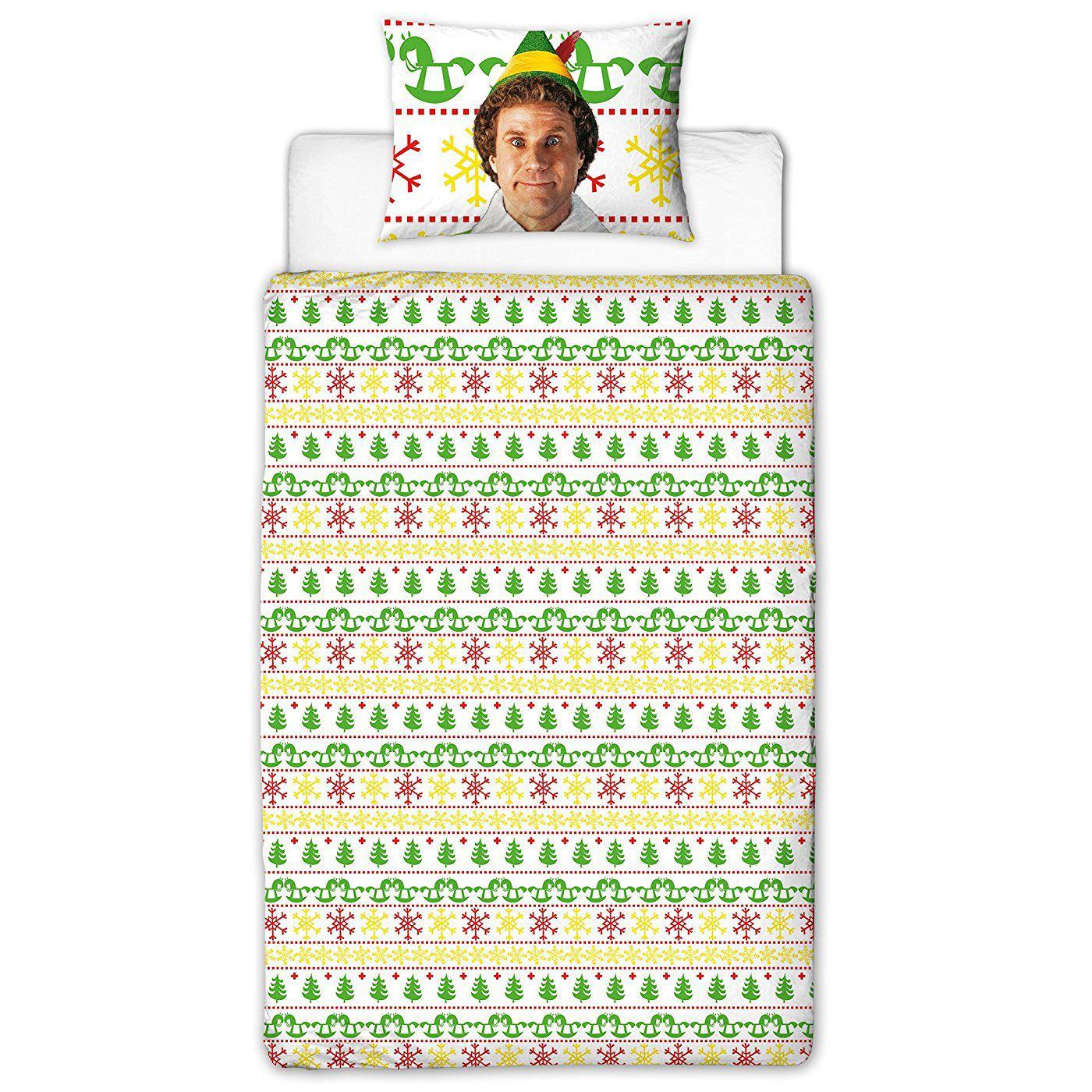 Indexbild 10 - Kinder Weihnachten Bettbezug Sets - Junior Einzel Doppel King - Elf Emoji Grinch