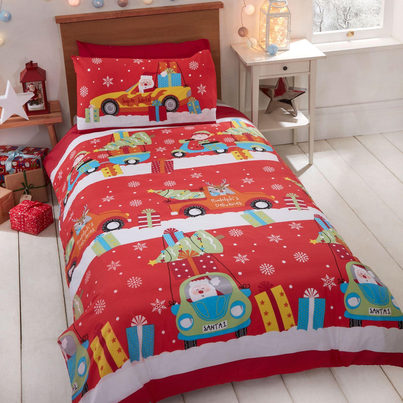 Indexbild 13 - Kinder Weihnachten Bettbezug Sets - Junior Einzel Doppel King - Elf Emoji Grinch