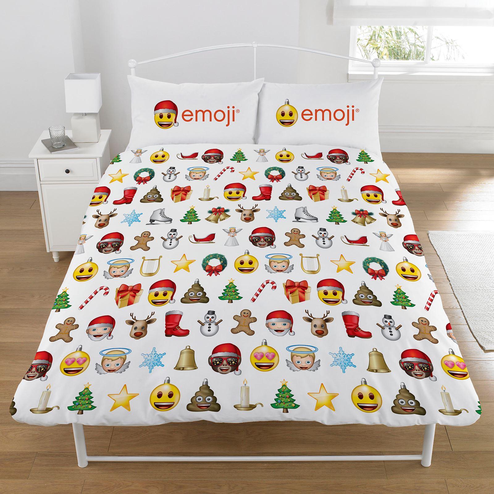 Indexbild 27 - Kinder Weihnachten Bettbezug Sets - Junior Einzel Doppel King - Elf Emoji Grinch