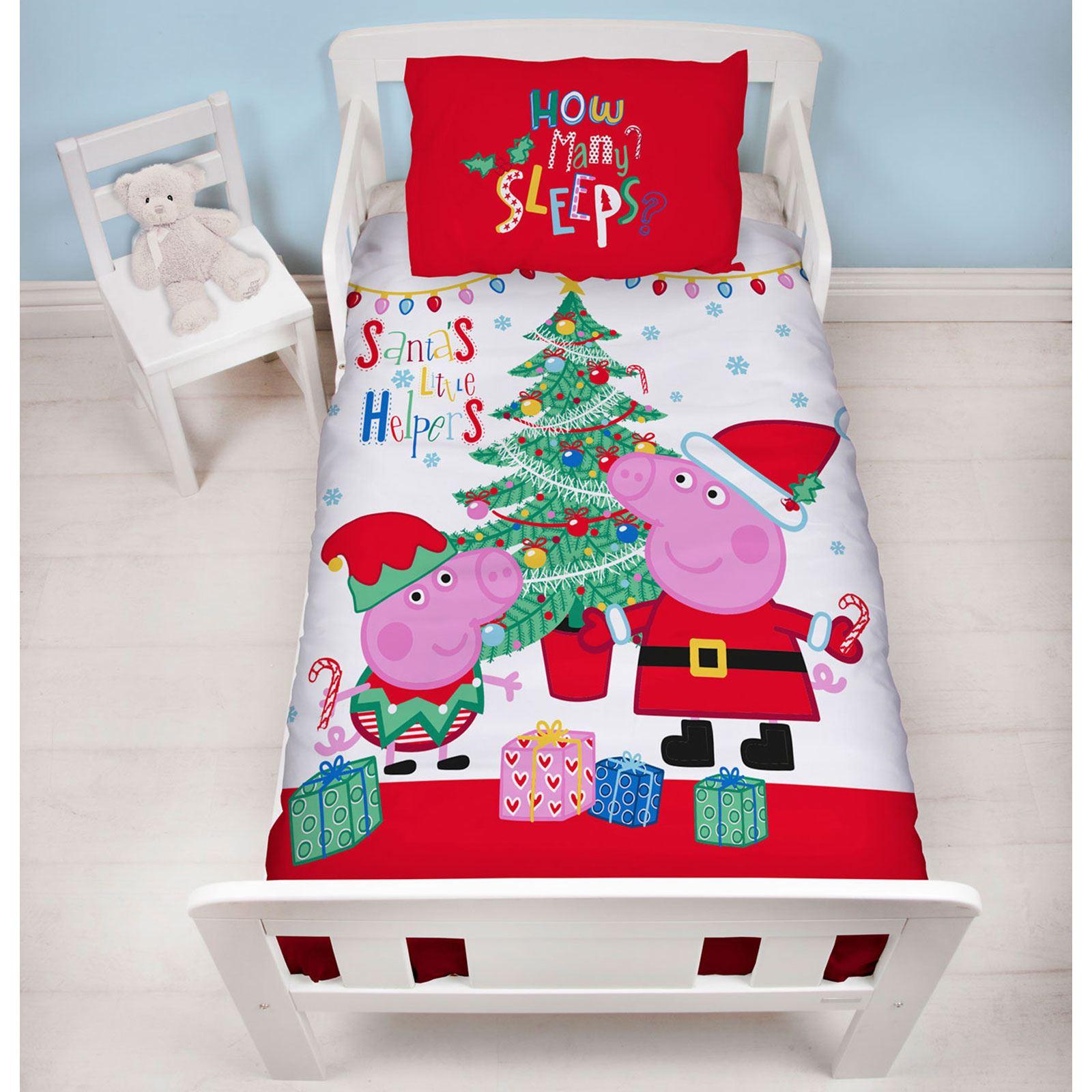 Indexbild 57 - Kinder Weihnachten Bettbezug Sets - Junior Einzel Doppel King - Elf Emoji Grinch