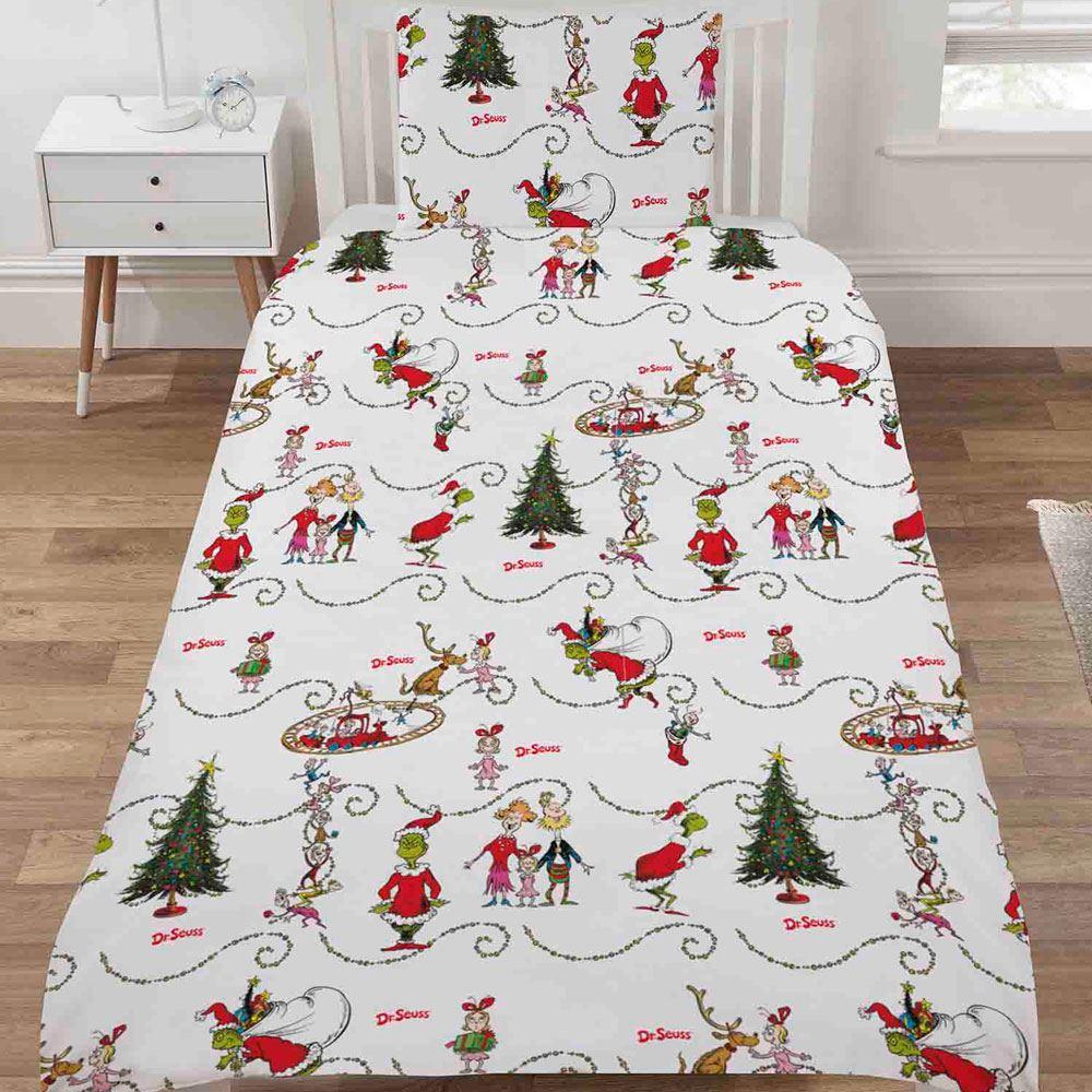 Indexbild 91 - Kinder Weihnachten Bettbezug Sets - Junior Einzel Doppel King - Elf Emoji Grinch