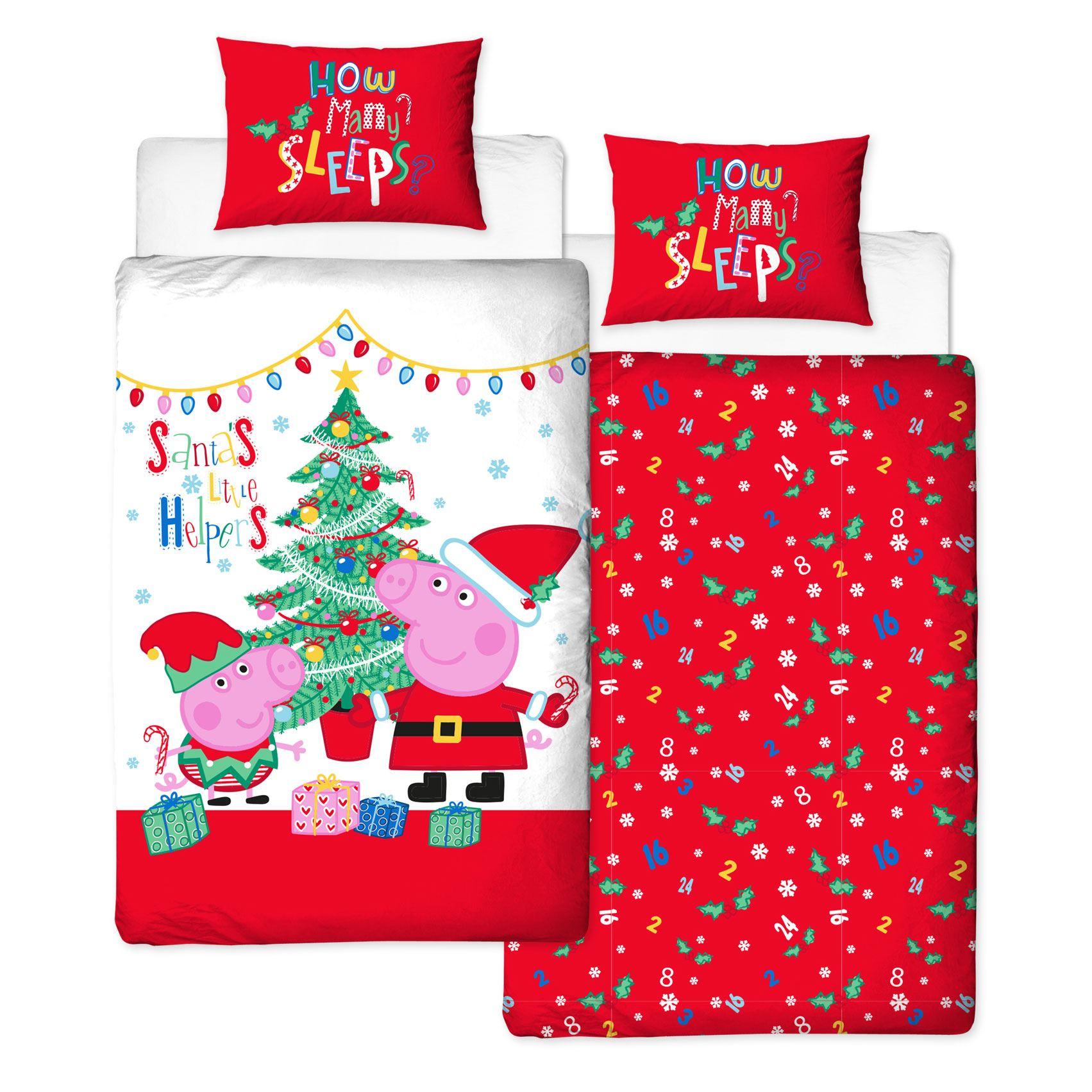 Indexbild 56 - Kinder Weihnachten Bettbezug Sets - Junior Einzel Doppel King - Elf Emoji Grinch