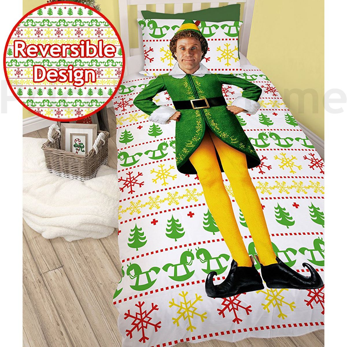 Indexbild 7 - Kinder Weihnachten Bettbezug Sets - Junior Einzel Doppel King - Elf Emoji Grinch
