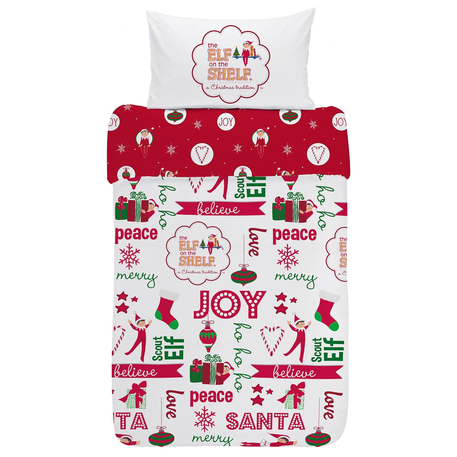 Indexbild 25 - Kinder Weihnachten Bettbezug Sets - Junior Einzel Doppel King - Elf Emoji Grinch