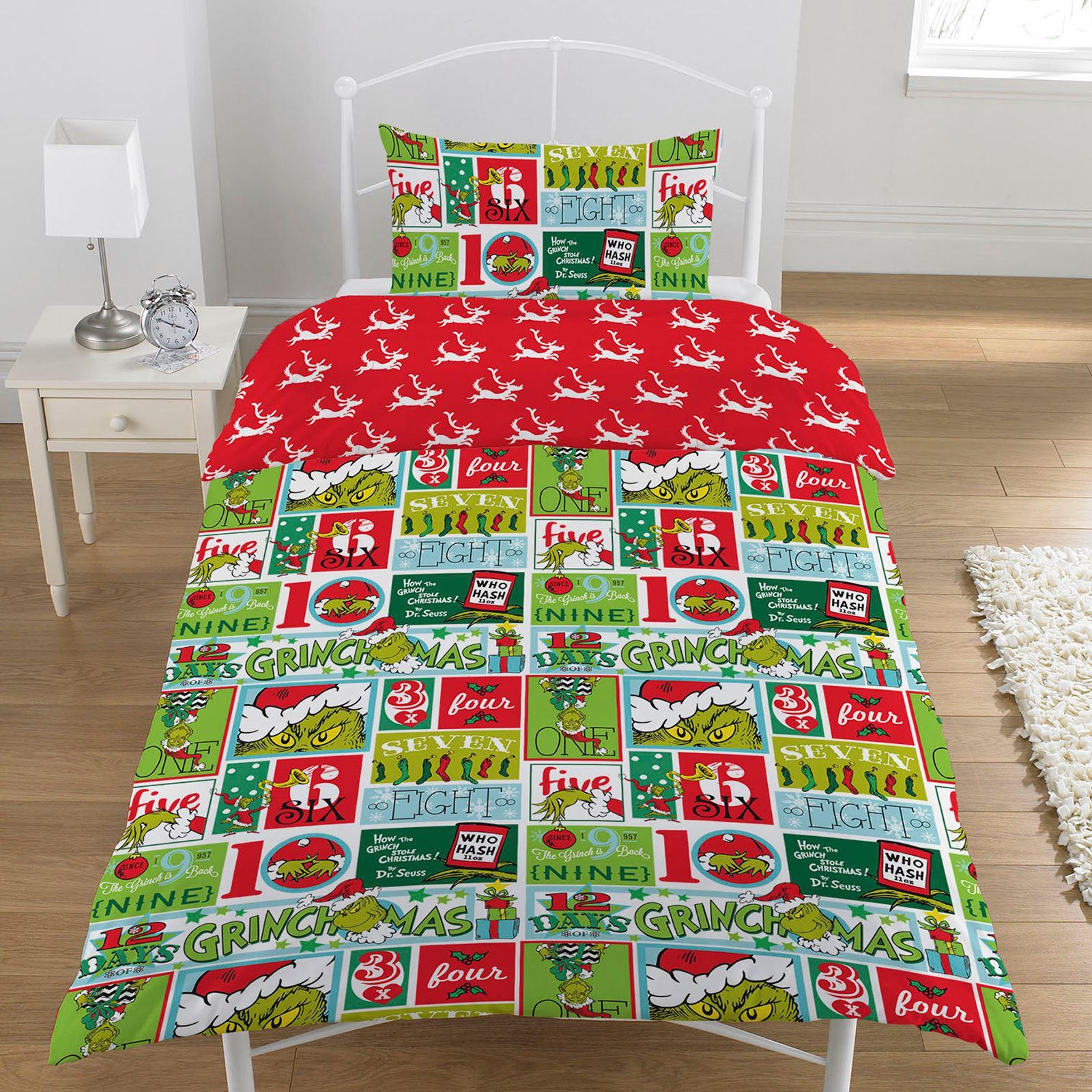 Indexbild 88 - Kinder Weihnachten Bettbezug Sets - Junior Einzel Doppel King - Elf Emoji Grinch
