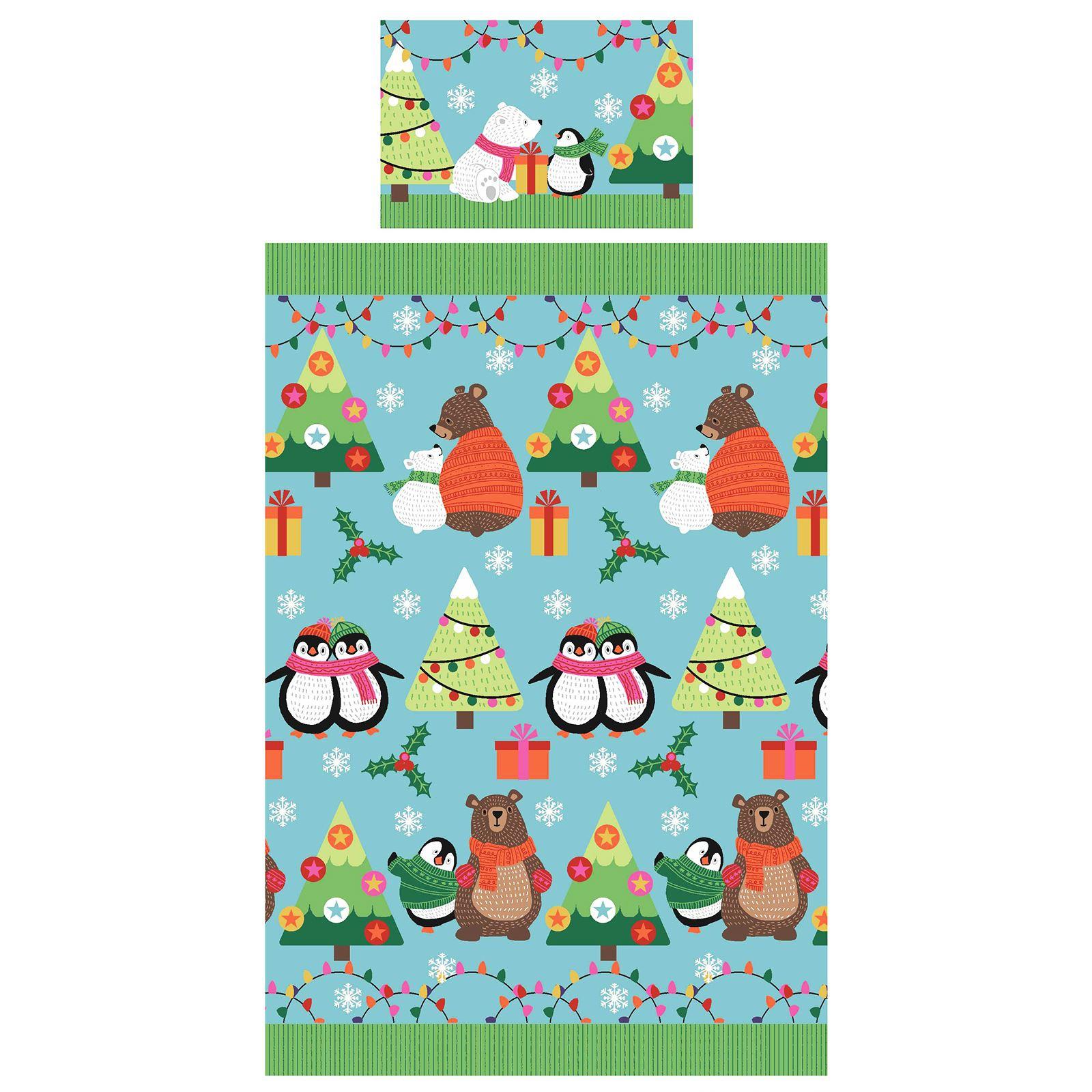 Indexbild 102 - Kinder Weihnachten Bettbezug Sets - Junior Einzel Doppel King - Elf Emoji Grinch