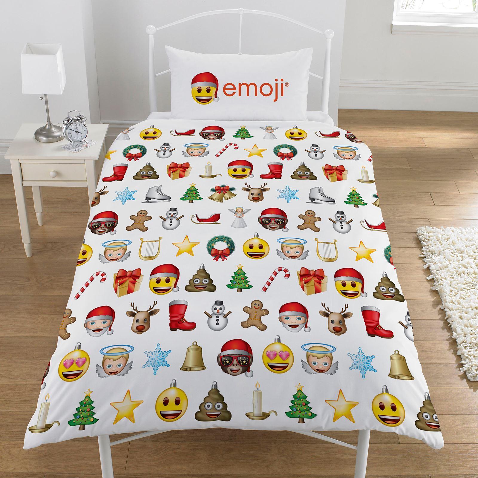 Indexbild 28 - Kinder Weihnachten Bettbezug Sets - Junior Einzel Doppel King - Elf Emoji Grinch