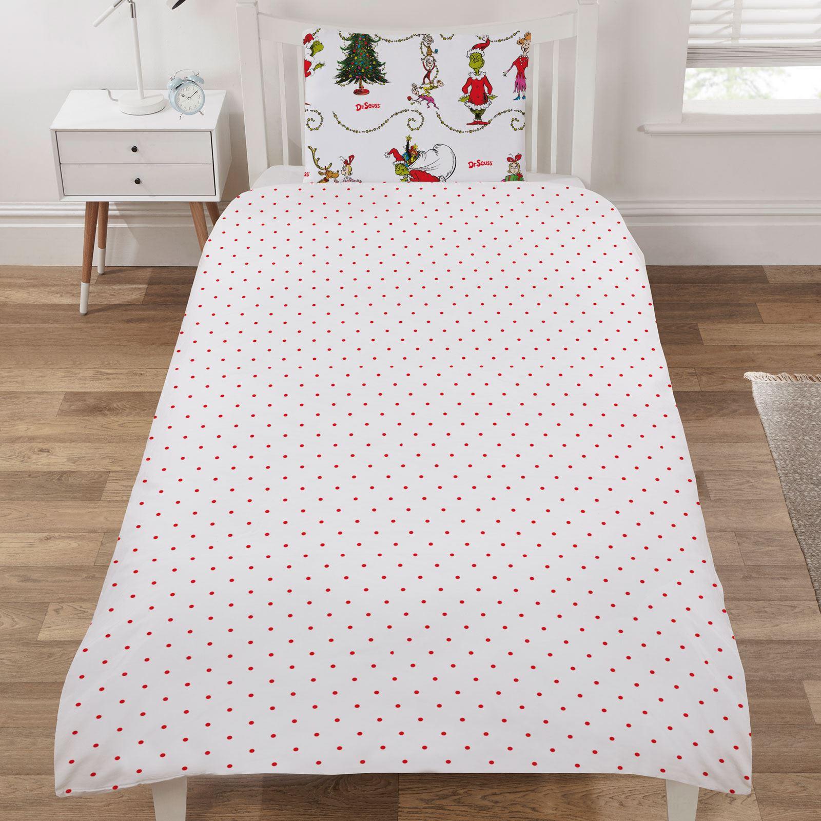 Indexbild 92 - Kinder Weihnachten Bettbezug Sets - Junior Einzel Doppel King - Elf Emoji Grinch