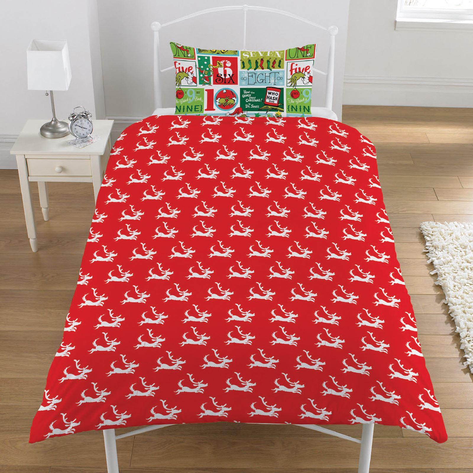Indexbild 89 - Kinder Weihnachten Bettbezug Sets - Junior Einzel Doppel King - Elf Emoji Grinch