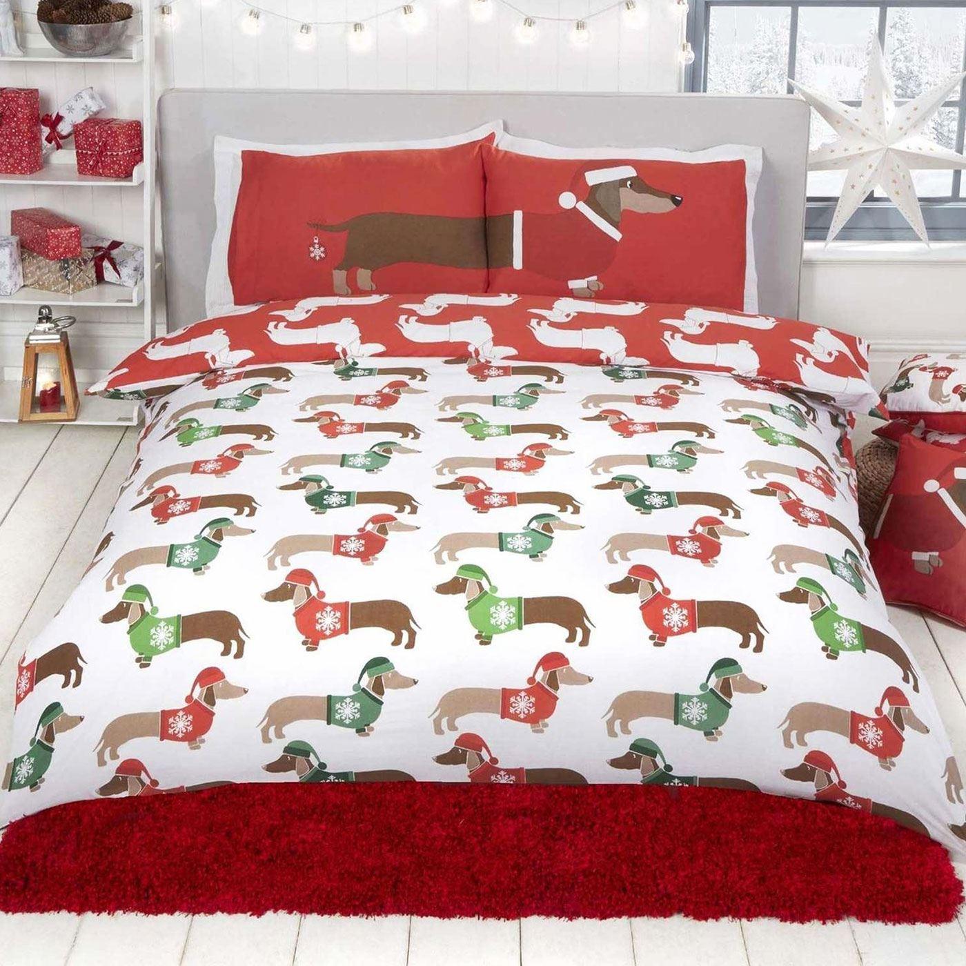 Indexbild 74 - Kinder Weihnachten Bettbezug Sets - Junior Einzel Doppel King - Elf Emoji Grinch