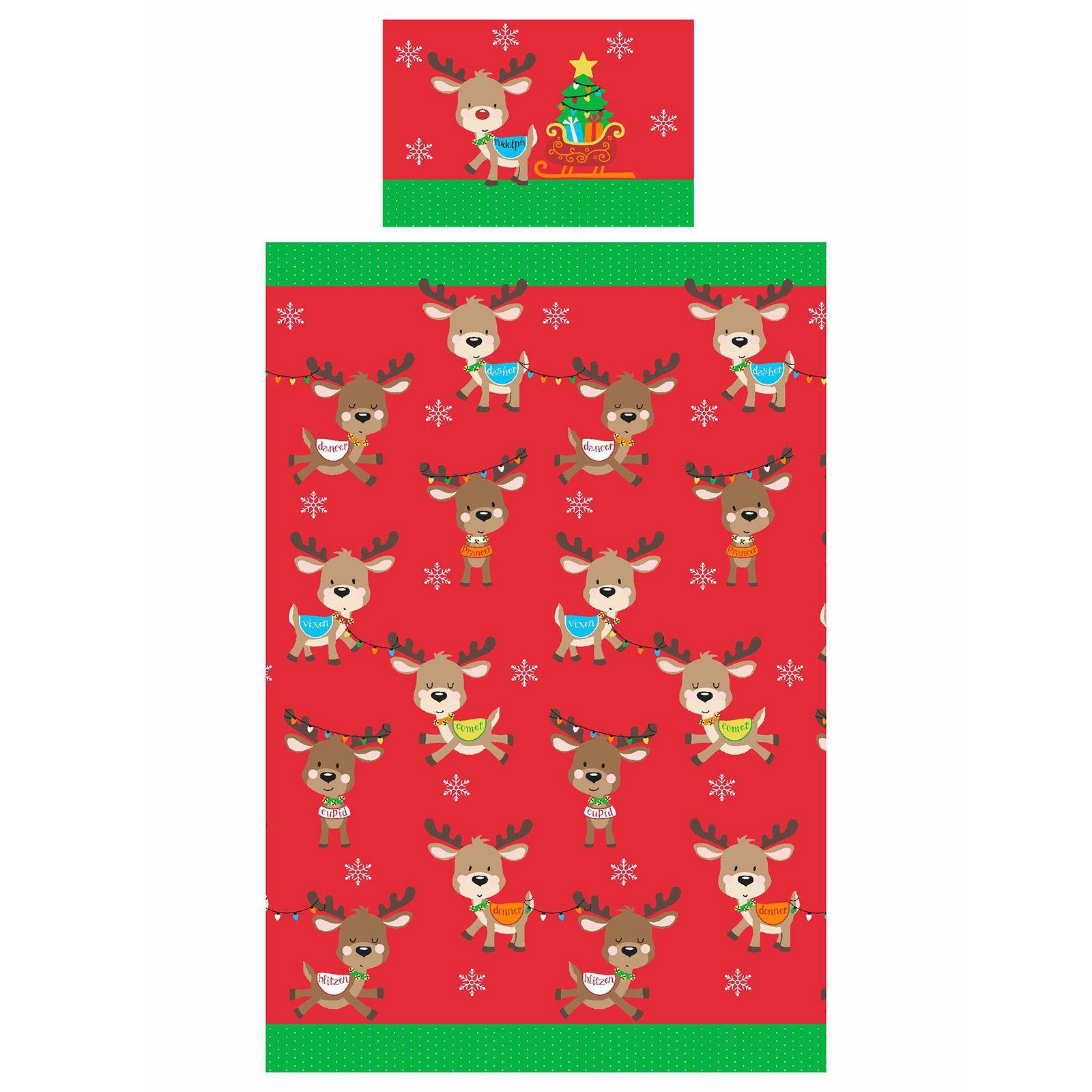 Indexbild 67 - Kinder Weihnachten Bettbezug Sets - Junior Einzel Doppel King - Elf Emoji Grinch