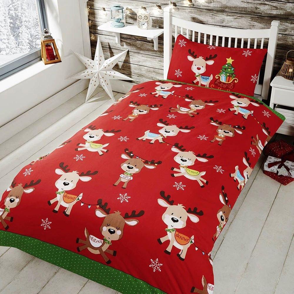 Indexbild 66 - Kinder Weihnachten Bettbezug Sets - Junior Einzel Doppel King - Elf Emoji Grinch