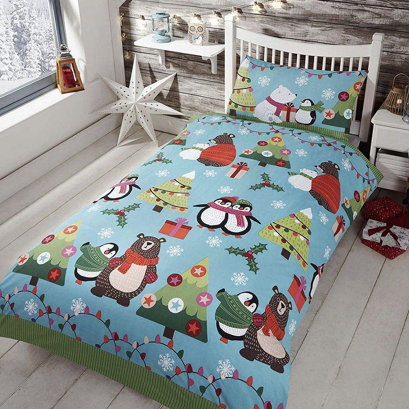 Indexbild 101 - Kinder Weihnachten Bettbezug Sets - Junior Einzel Doppel King - Elf Emoji Grinch
