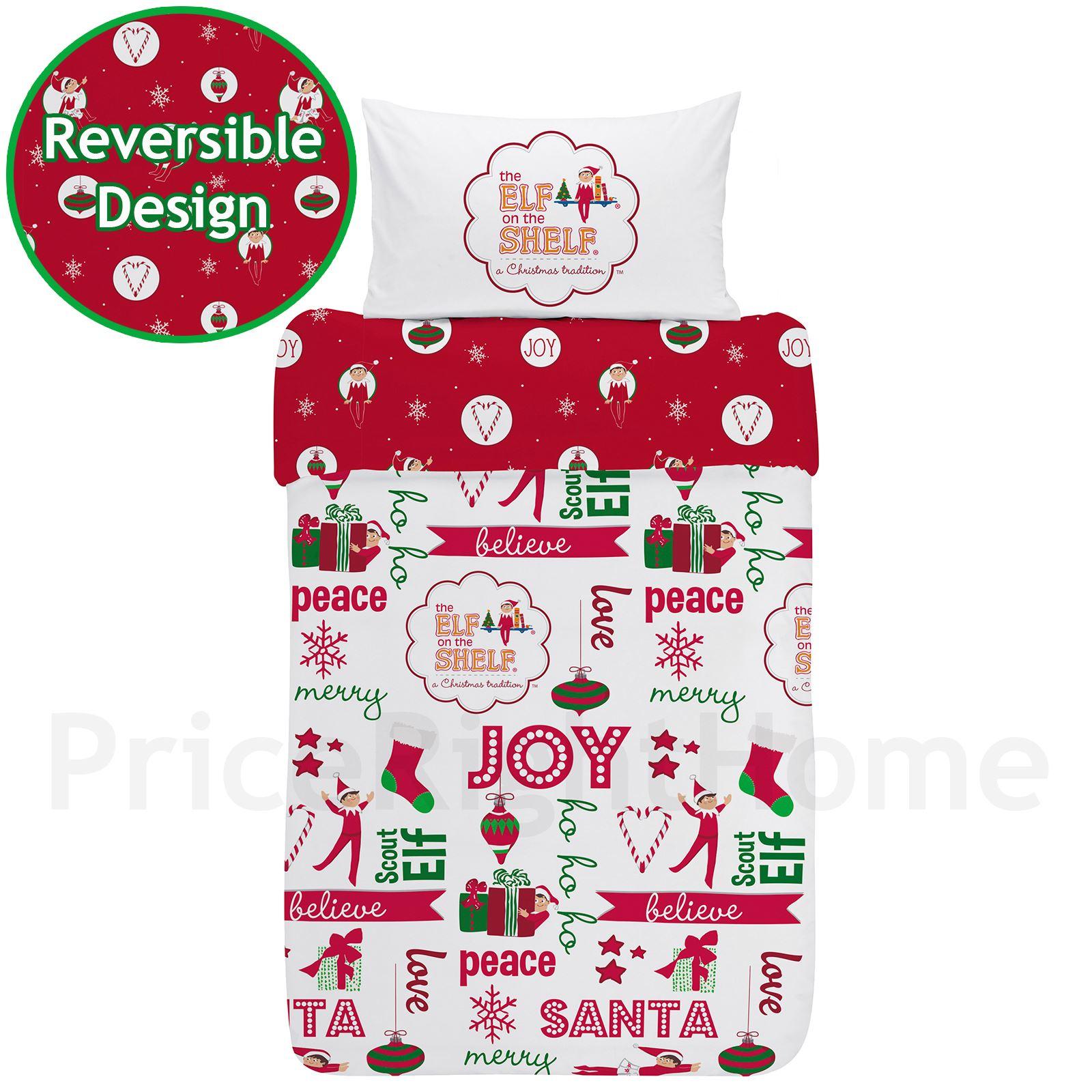 Indexbild 22 - Kinder Weihnachten Bettbezug Sets - Junior Einzel Doppel King - Elf Emoji Grinch