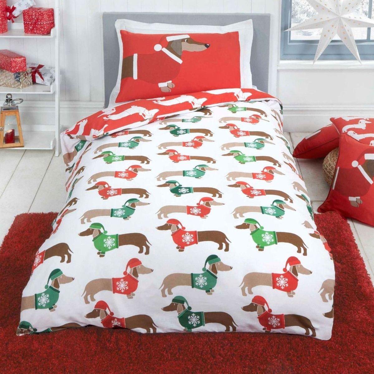 Indexbild 78 - Kinder Weihnachten Bettbezug Sets - Junior Einzel Doppel King - Elf Emoji Grinch