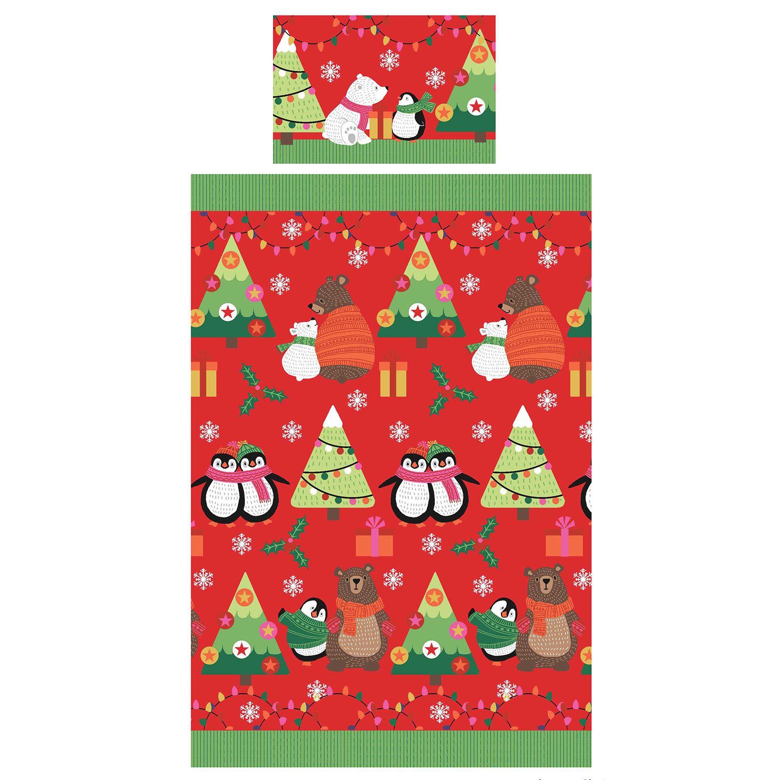 Indexbild 100 - Kinder Weihnachten Bettbezug Sets - Junior Einzel Doppel King - Elf Emoji Grinch