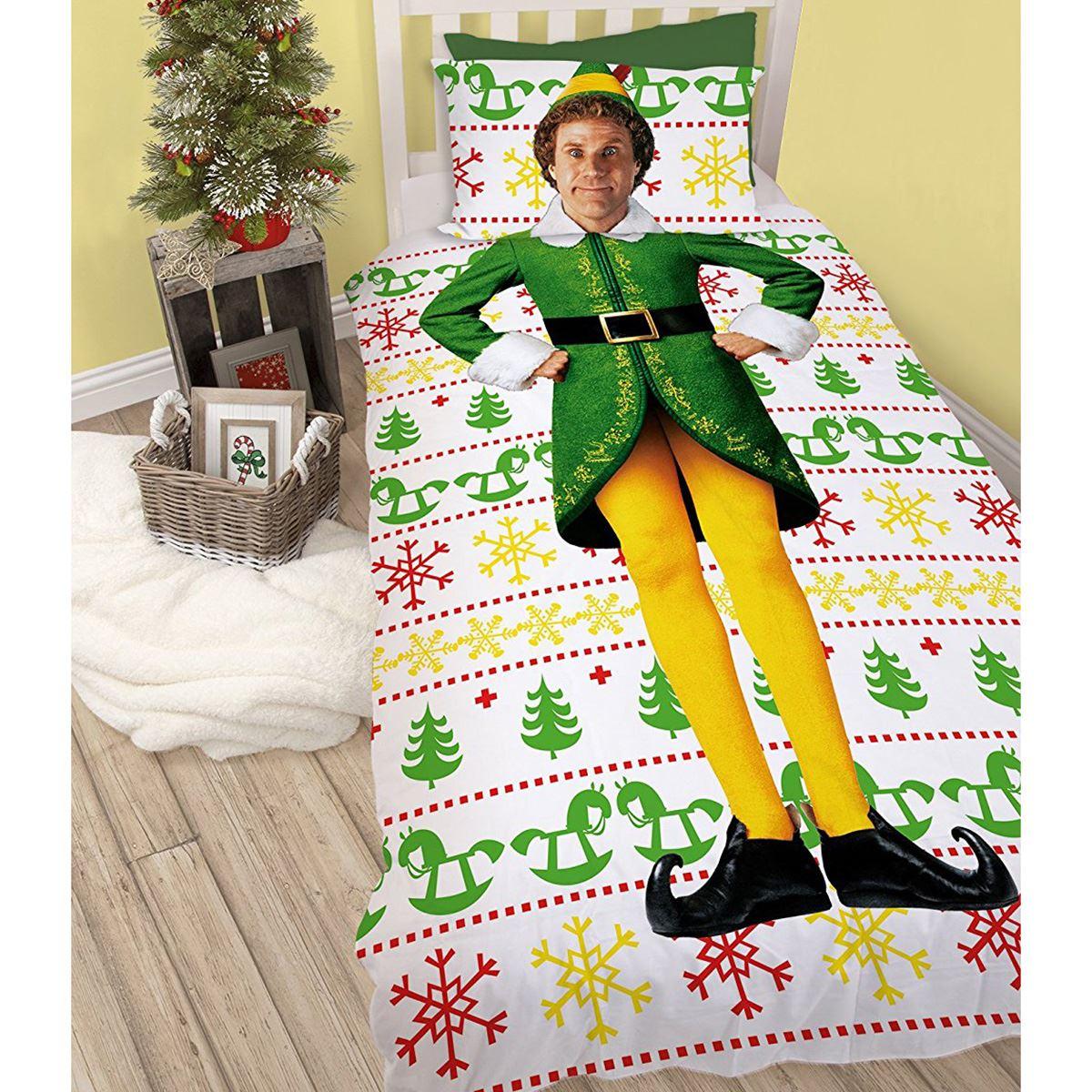 Indexbild 8 - Kinder Weihnachten Bettbezug Sets - Junior Einzel Doppel King - Elf Emoji Grinch