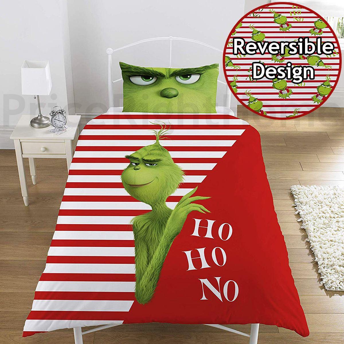 Indexbild 95 - Kinder Weihnachten Bettbezug Sets - Junior Einzel Doppel King - Elf Emoji Grinch
