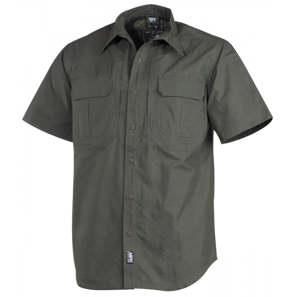 MFH-Outdoor-High-Defence-Hombre-Camisa-Aire-Libre-Strike-manga-corta-Teflon