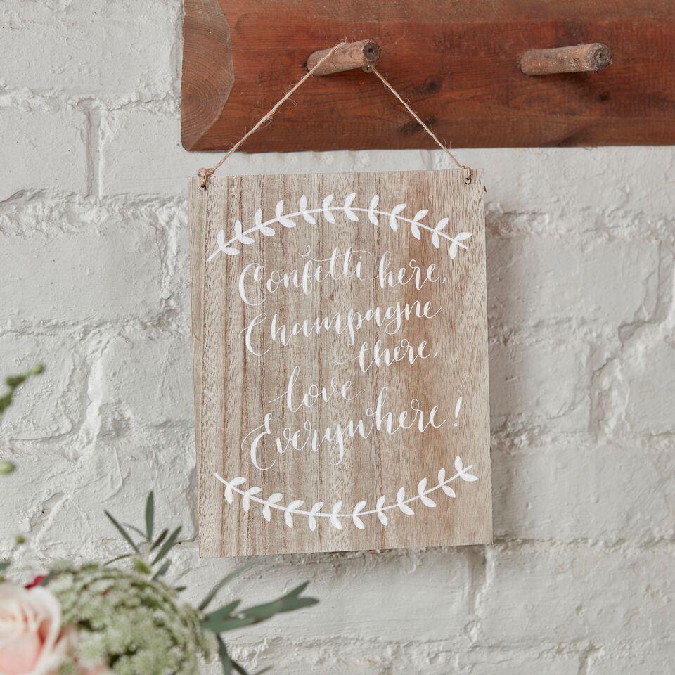 Ginger ray boho holz vintage hochzeit plaketten schild for Holz dekoration hochzeit