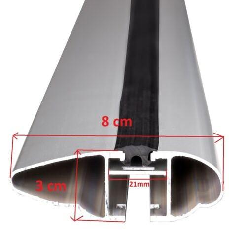 Barres-de-Toit-Dynamique-120cm-Beta-102-Opel-Astra-Combo-Corsa-Meriva-Signum miniatura 7