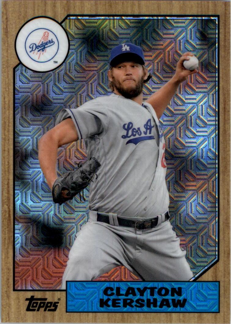 2017-Topps-039-87-Topps-Plata-Paquete-Cromo-Beisbol-Tarjeta-Recoger miniatura 8