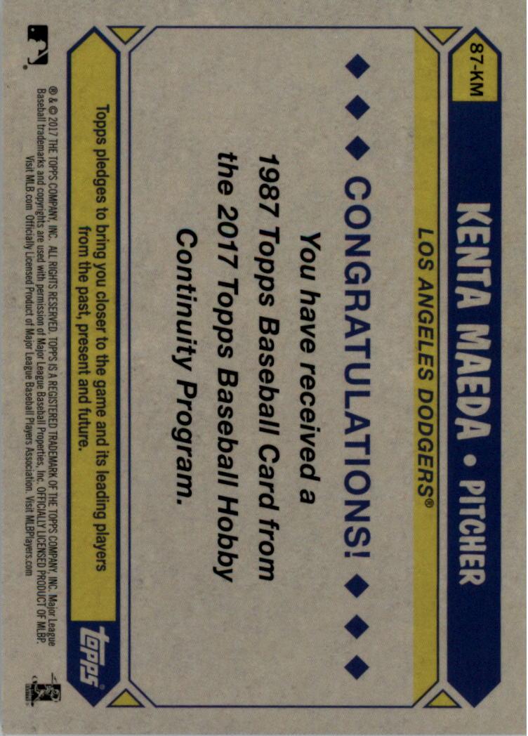 2017-Topps-039-87-Topps-Plata-Paquete-Cromo-Beisbol-Tarjeta-Recoger miniatura 38