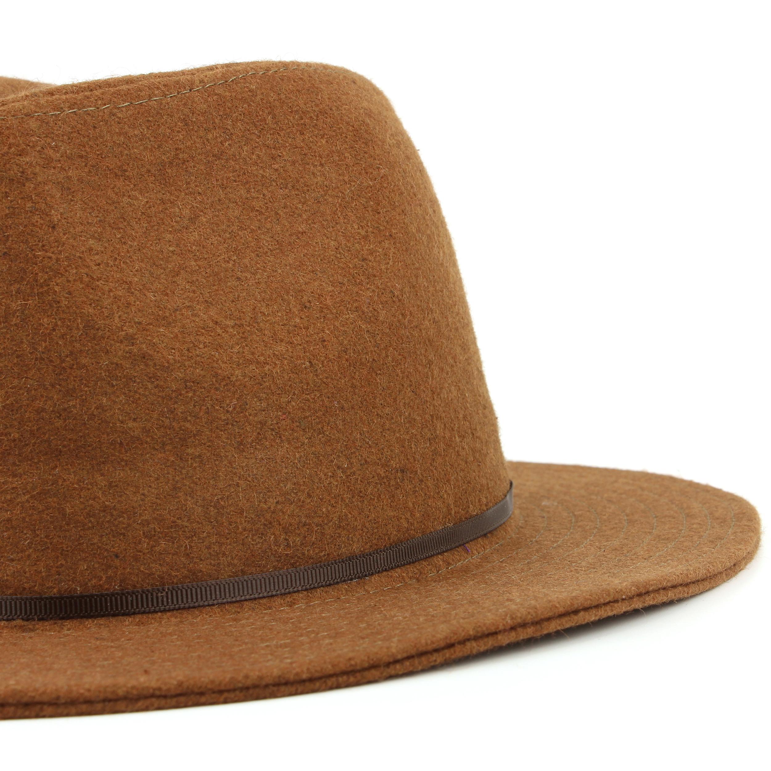 Sombrero-Fedora-Mujer-Borde-Ancho-Fieltro-de-Lana-Campana-Vintage-Sol-Panama miniatura 7