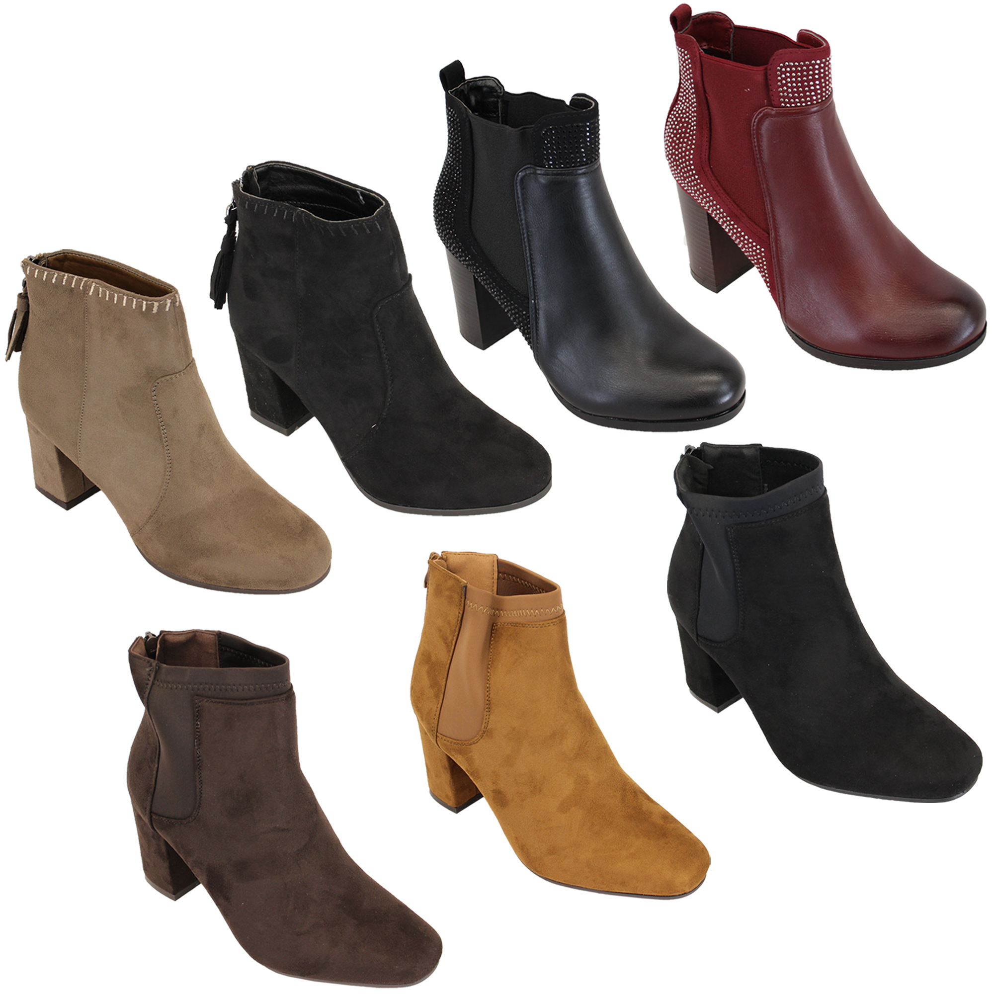 ladies chelsea ankle boots womens suede