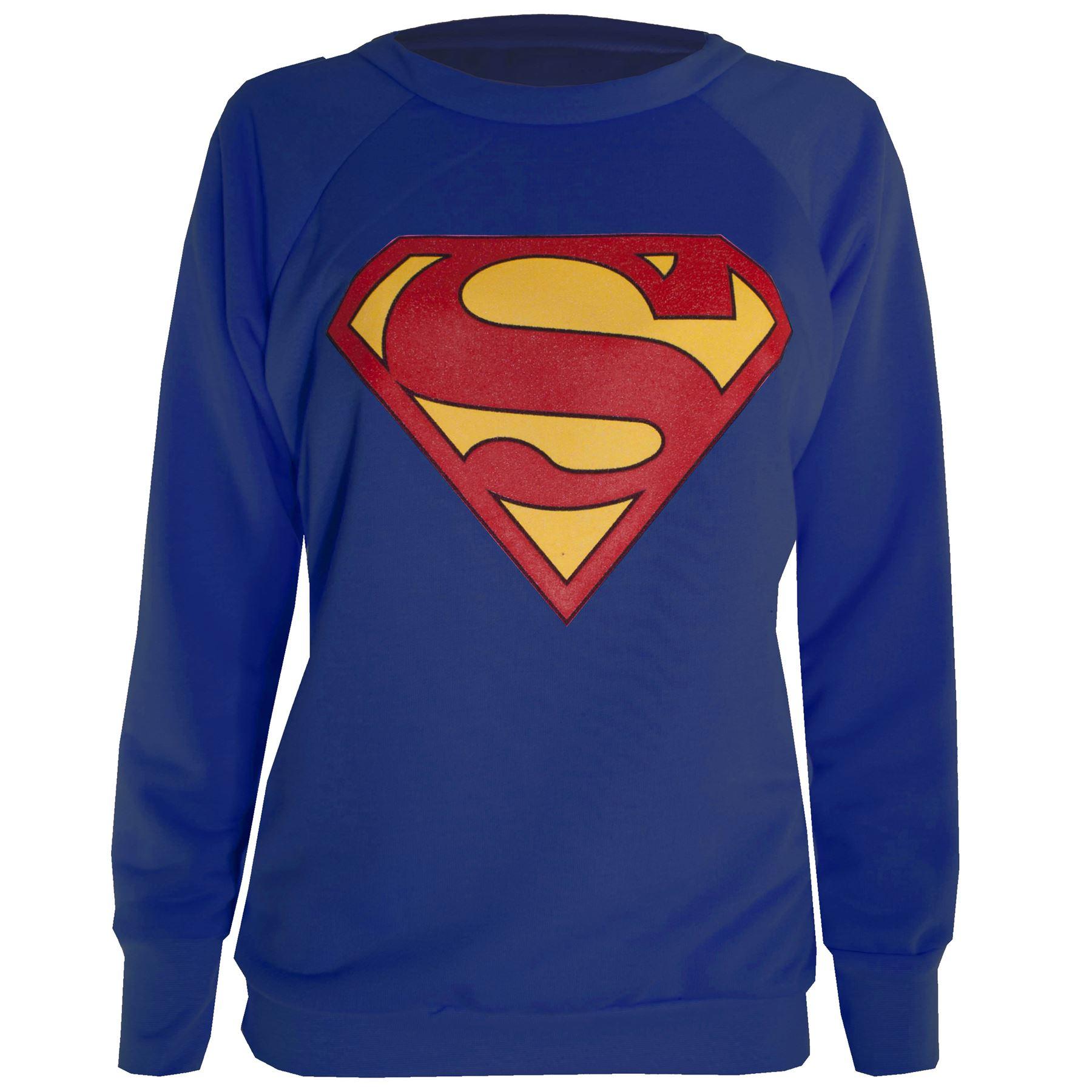 femmes manches longues superman t shirt femmes batman. Black Bedroom Furniture Sets. Home Design Ideas