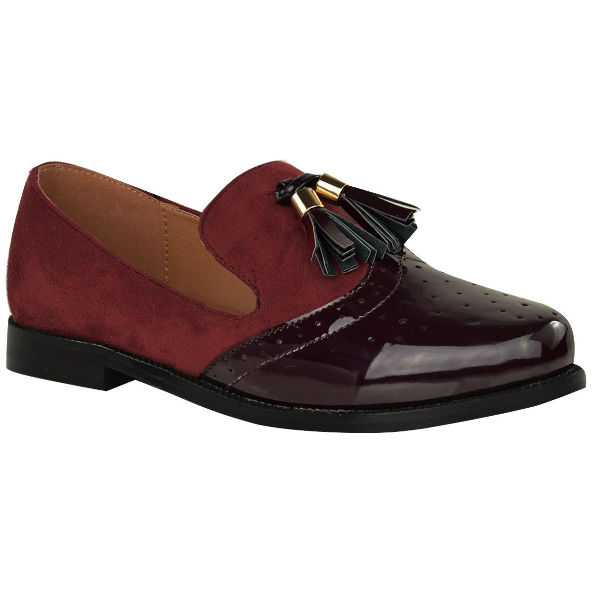 Womens Plaid Oxford Shoes Casual