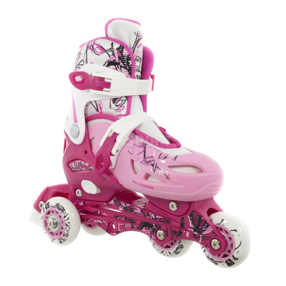 4in1 enfants rollers en ligne taille des patins r glables. Black Bedroom Furniture Sets. Home Design Ideas