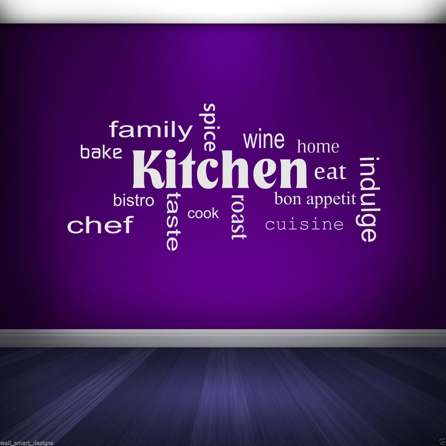 Family home quote rules vinyl wall art sticker mural decal home - Kitchen Words Phrases Wall Art Sticker Quote Decal Mural