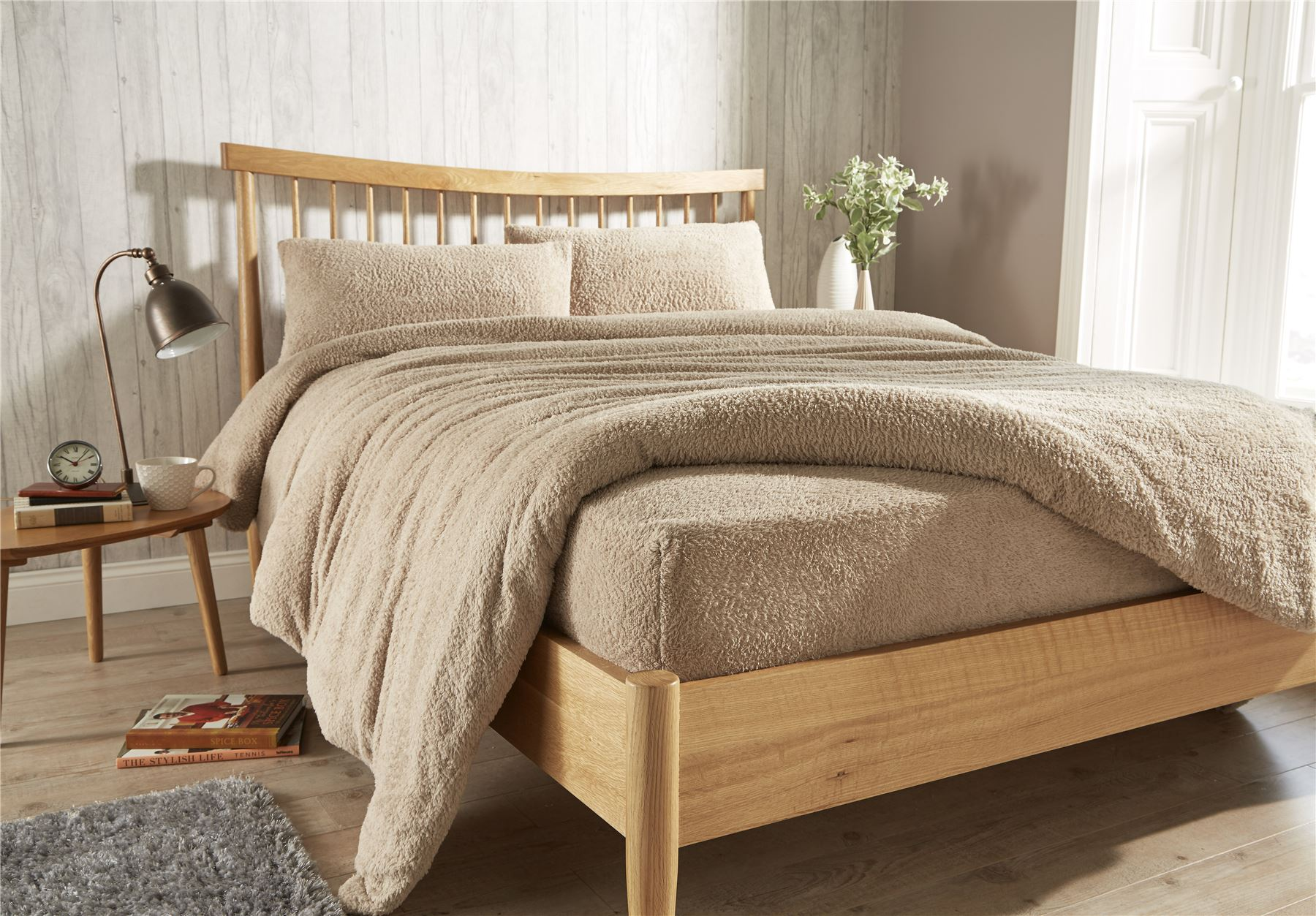 Exceptional Teddy Fleece Extra Deep Fitted Sheet Cosy Warm