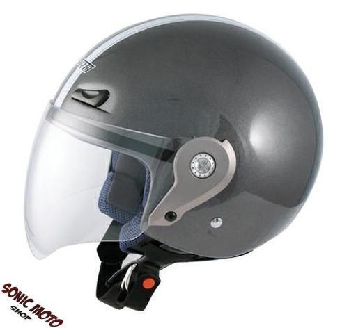 Casque-Demi-Jet-Visiere-Longue-Polycarbonate-Approuve-Moto-Scooter-Personnaliser
