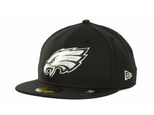 Philadelphia-Eagles-NERO-BIANCO-New-Era-59Fifty