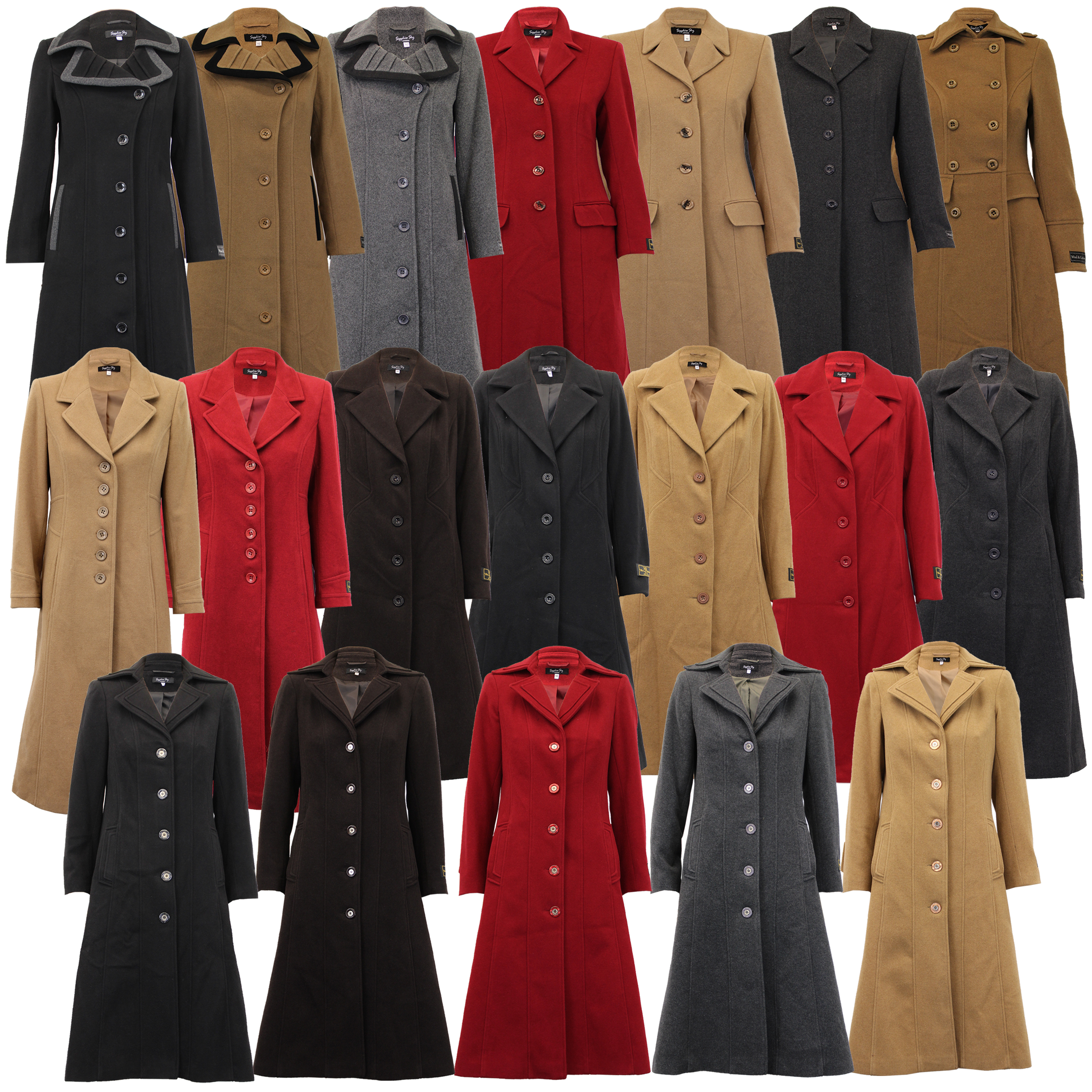 enjoy bottom price 2019 original rock-bottom price Details about Ladies Wool Cashmere Coat Women Jacket Outerwear Trench  Overcoat Winter Lined