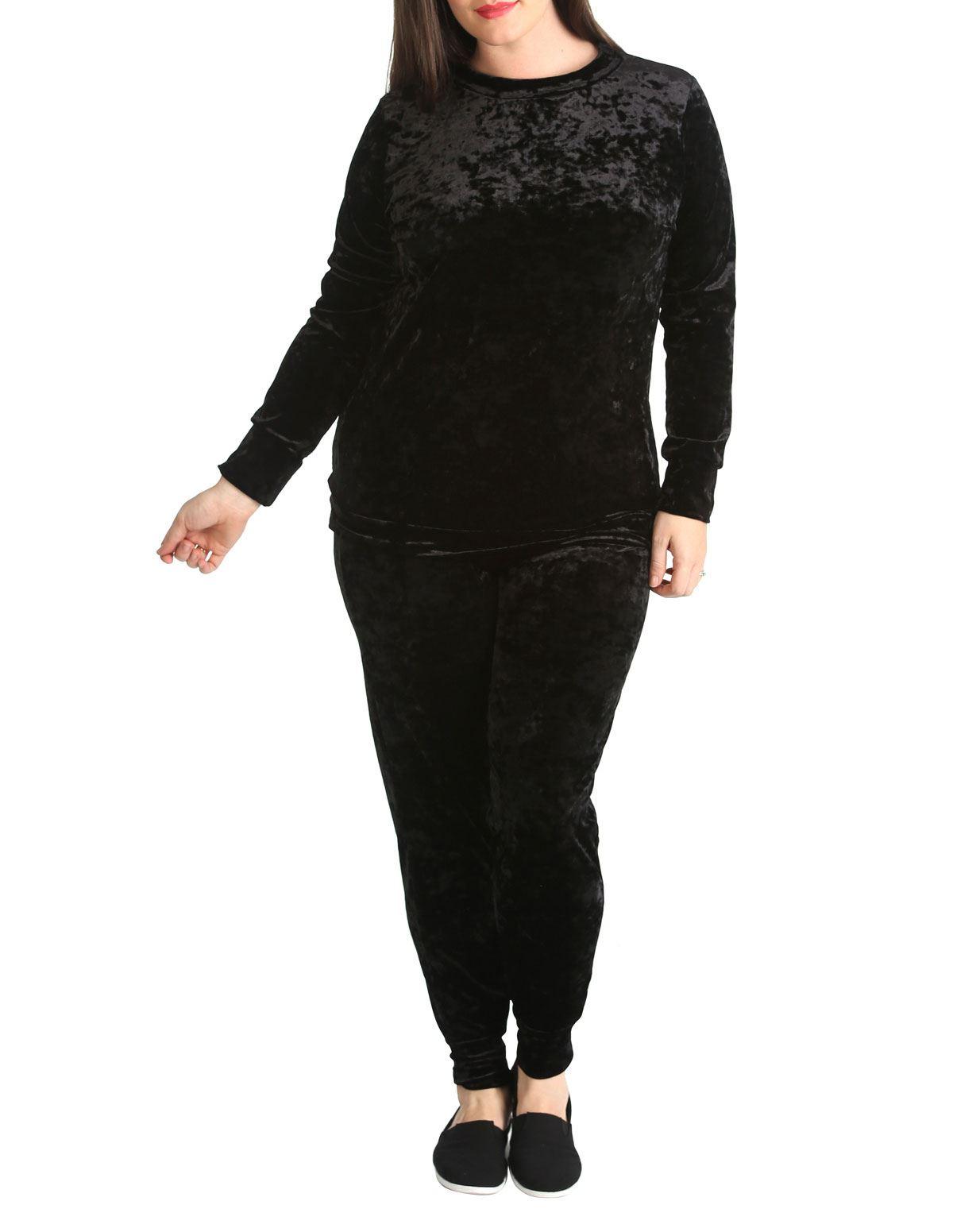 Femme Ladies Manches Longues Salon Usure Survêtement Décontracté Confort Tunique